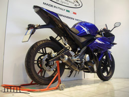 YZF R125 2015 Ligne complete Rond court carbone